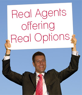 Real Agents offering Real Options